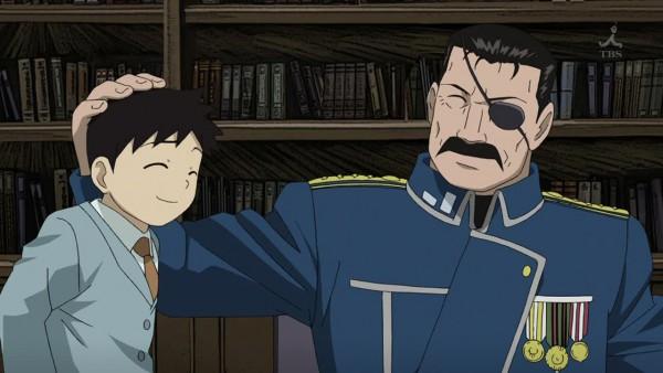 Tags: Anime, Fullmetal Alchemist Brotherhood, Fullmetal Alchemist, Pride (FMA), King Bradley, Library, Wallpaper, Screenshot