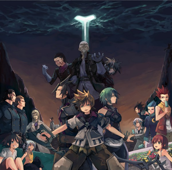 Tags: Anime, Final Fantasy VII, Kingdom Hearts: Birth by Sleep, Kingdom Hearts II, Kingdom Hearts, Axel (Kingdom Hearts), Master Xehanort, Riku (Kingdom Hearts), Vexen, Ienzo, Aqua (Kingdom Hearts), Dilan, Sora (Kingdom Hearts)