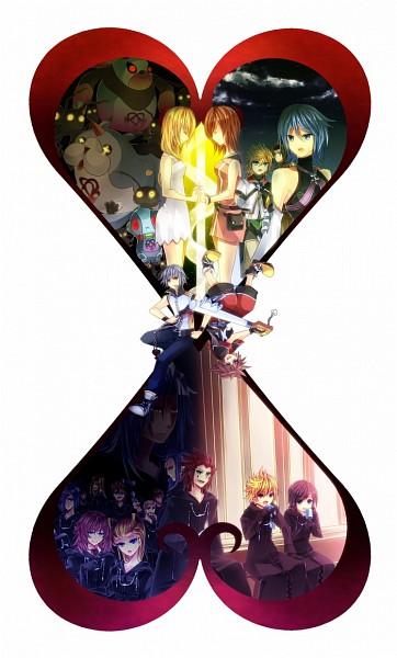 Tags: Anime, Pixiv Id 434936, Kingdom Hearts 3D: Dream Drop Distance, Kingdom Hearts, Kingdom Hearts II, Kingdom Hearts 358/2 Days, Kingdom Hearts: Birth by Sleep, Roxas, Vexen, Aqua (Kingdom Hearts), Axel (Kingdom Hearts), Larxene, Xion