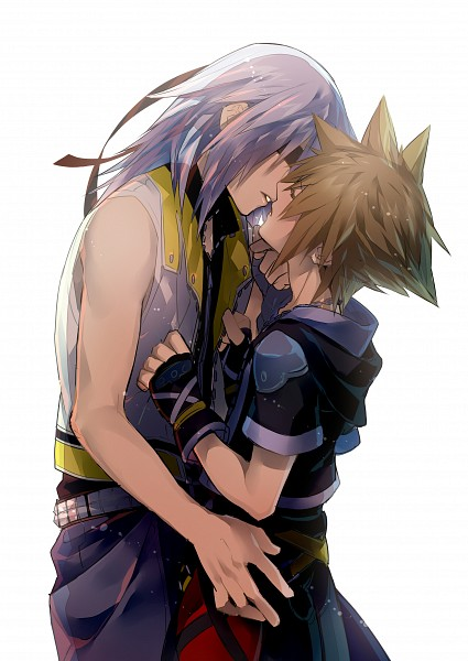 Tags: Anime, Kazari Tayu, Kingdom Hearts, Riku (Kingdom Hearts), Sora (Kingdom Hearts), Soriku (Kingdom Hearts), Pixiv, Mobile Wallpaper, Fanart