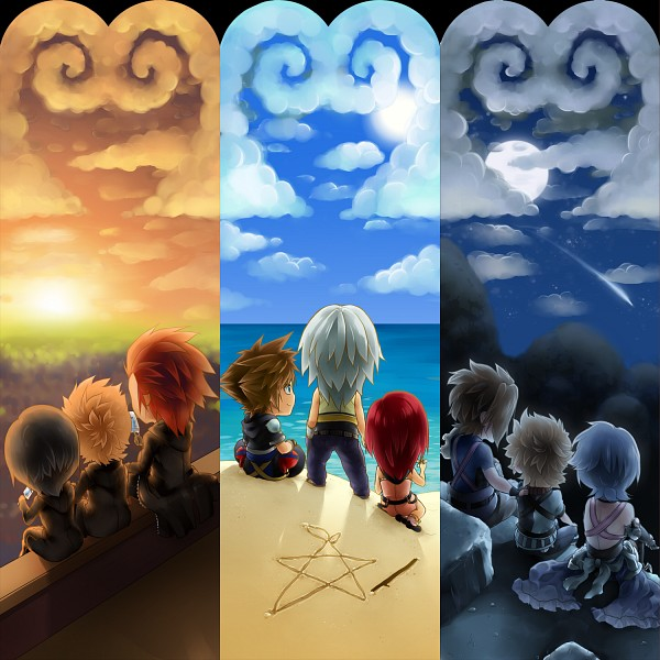 Tags: Anime, Mishelly88, Kingdom Hearts: Birth by Sleep, Kingdom Hearts II, Kingdom Hearts, Kingdom Hearts 358/2 Days, Axel (Kingdom Hearts), Riku (Kingdom Hearts), Sora (Kingdom Hearts), Aqua (Kingdom Hearts), Xion, Roxas, Ventus