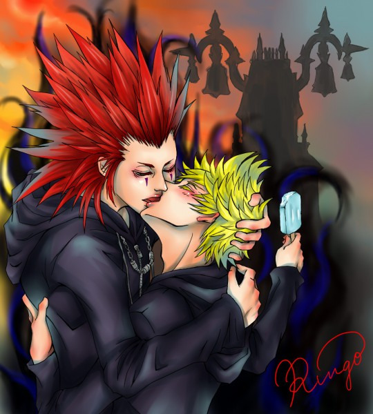 Tags: Anime, Nomura Tetsuya, SQUARE ENIX, Kingdom Hearts II, Kingdom Hearts, Axel (Kingdom Hearts), Roxas, Organization XIII