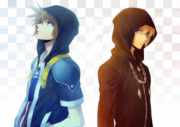 Tags: Anime, ryugo, Kingdom Hearts, Kingdom Hearts II, Kingdom Hearts 358/2 Days, Sora (Kingdom Hearts), Roxas, Pixiv, Fanart, Fanart From Pixiv, Organization XIII