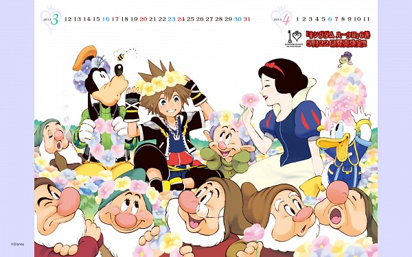 Tags: Anime, Amano Shiro, Snow White and the Seven Dwarfs, Snow White and the Seven Dwarfs (Disney), Kingdom Hearts, Sneezy (Snow White And The Seven Dwarfs) (Disney), Donald Duck, Bashful (Snow White And The Seven Dwarfs) (Disney), Happy (Snow White And The Seven Dwarfs) (Disney), Jiminy Cricket, Snow White (Disney) (Character), Sleepy (Snow White And The Seven Dwarfs) (Disney), Sora (Kingdom Hearts)