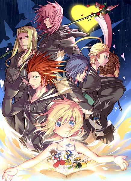 Tags: Anime, Pixiv Id 2159006, Kingdom Hearts, Kingdom Hearts II, Kingdom Hearts: Chain of Memories, Sora (Kingdom Hearts), Vexen, Zexion, Marluxia, Naminé, Axel (Kingdom Hearts), Goofy, Larxene