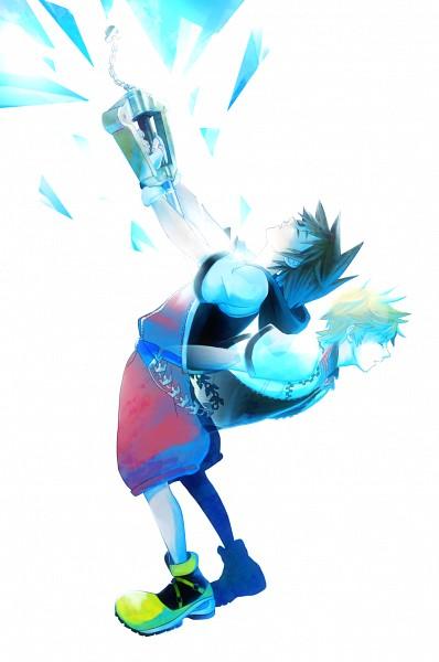 Tags: Anime, Kingdom Hearts II, Kingdom Hearts 358/2 Days, Kingdom Hearts, Roxas, Sora (Kingdom Hearts), Keyblade, Fanart, Mobile Wallpaper, Fanart From Pixiv, Pixiv