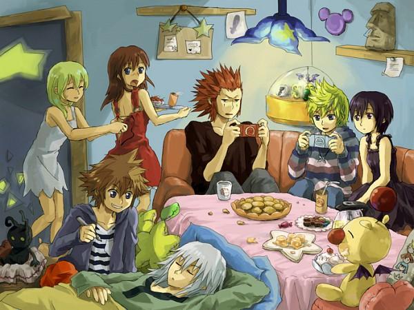 Tags: Anime, Pixiv Id 126679, Kingdom Hearts 358/2 Days, Kingdom Hearts, Kingdom Hearts II, Kairi (Kingdom Hearts), Riku (Kingdom Hearts), Roxas, Sora (Kingdom Hearts), Axel (Kingdom Hearts), Naminé, Moogle, Xion
