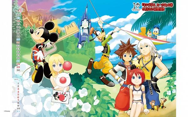 Tags: Anime, SQUARE ENIX, Chip & Dale, Kingdom Hearts, Kingdom Hearts II, Mickey Mouse, Goofy, Donald Duck, Sora (Kingdom Hearts), Kairi (Kingdom Hearts), Naminé, Riku (Kingdom Hearts), Squirrel
