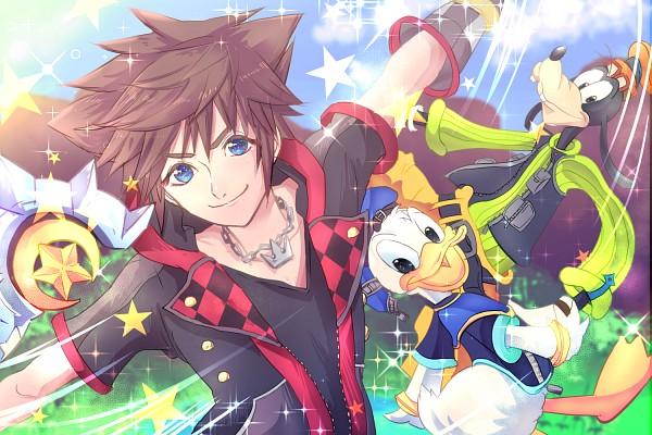 Tags: Anime, Pixiv Id 4773818, Disney, Kingdom Hearts III, Kingdom Hearts, Goofy, Donald Duck, Sora (Kingdom Hearts), Keyblade