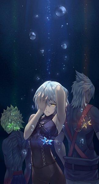 Tags: Anime, Pixiv Id 2534956, Kingdom Hearts III, Kingdom Hearts: Birth by Sleep, Kingdom Hearts, Terra, Anti-Aqua, Aqua (Kingdom Hearts), Ventus