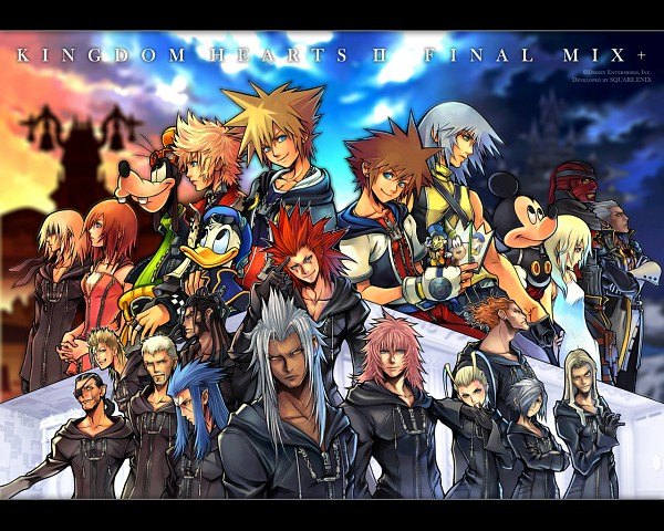 Tags: Anime, Nomura Tetsuya, SQUARE ENIX, Kingdom Hearts: Chain of Memories, Kingdom Hearts 358/2 Days, Kingdom Hearts II, Kingdom Hearts, Luxord, Goofy, Saïx, Zexion, Sora (Kingdom Hearts), Demyx