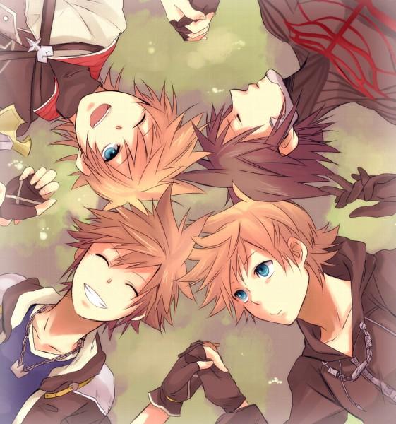 Tags: Anime, Pixiv Id 1171592, SQUARE ENIX, Kingdom Hearts, Kingdom Hearts II, Kingdom Hearts: Birth by Sleep, Kingdom Hearts 358/2 Days, Vanitas, Ventus, Roxas, Sora (Kingdom Hearts), Laying in Circle, Pixiv