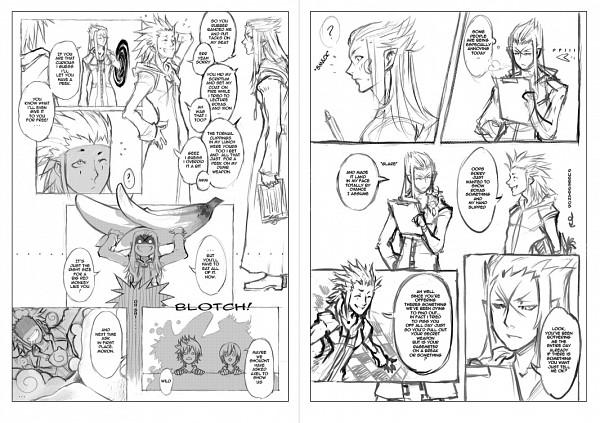 Tags: Anime, Drowdragon, Kingdom Hearts II, Kingdom Hearts 358/2 Days, Kingdom Hearts, Axel (Kingdom Hearts), Roxas, Saïx, Organization XIII