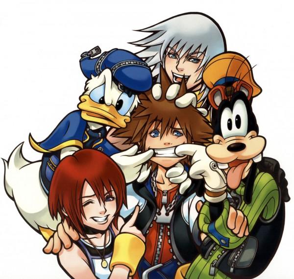 Tags: Anime, Nomura Tetsuya, Disney, SQUARE ENIX, Kingdom Hearts, Kairi (Kingdom Hearts), Riku (Kingdom Hearts), Sora (Kingdom Hearts), Goofy, Donald Duck