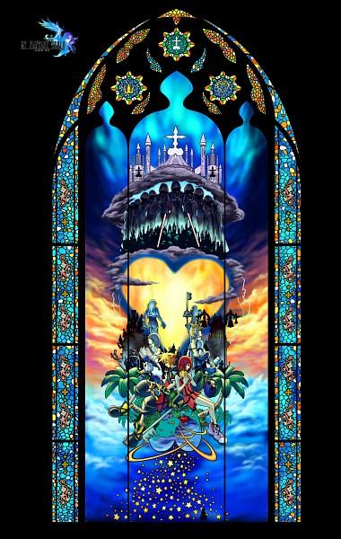 Tags: Anime, Diamond Dust, Kingdom Hearts II, Kingdom Hearts, Kingdom Hearts 358/2 Days, Goofy, Donald Duck, Kairi (Kingdom Hearts), Roxas, Riku (Kingdom Hearts), Naminé, Sora (Kingdom Hearts), Stained Glass