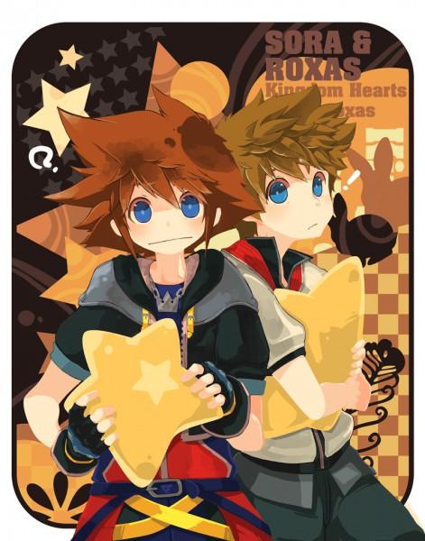 Tags: Anime, Kingdom Hearts II, Kingdom Hearts, Roxas, Sora (Kingdom Hearts), Artist Request