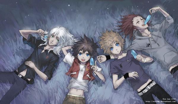 Tags: Anime, einlee, Kingdom Hearts 358/2 Days, Kingdom Hearts II, Kingdom Hearts, Riku (Kingdom Hearts), Axel (Kingdom Hearts), Sora (Kingdom Hearts), Roxas, Organization XIII
