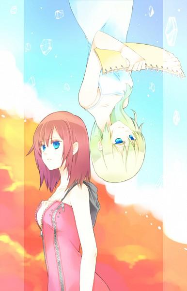 Kingdom Hearts Namine And Kairi Anime Kingdom Hearts II Mobi...