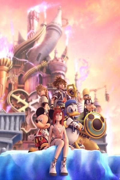 Tags: Anime, Nomura Tetsuya, SQUARE ENIX, Kingdom Hearts, Kingdom Hearts II, Kairi (Kingdom Hearts), Roxas, Mickey Mouse, Sora (Kingdom Hearts), Goofy, Donald Duck, Hollow Bastion, Keyblade