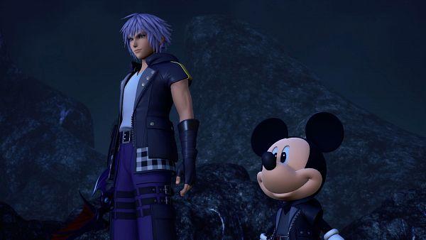 Tags: Anime, SQUARE ENIX, Kingdom Hearts III, Mickey Mouse, Riku (Kingdom Hearts), Realm Of Darkness, Dark Margin, Screenshot, 3D