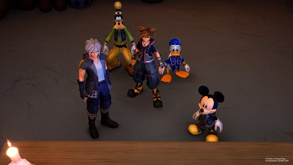 Tags: Anime, SQUARE ENIX, Kingdom Hearts III, Mickey Mouse, Sora (Kingdom Hearts), Goofy, Donald Duck, Riku (Kingdom Hearts), Screenshot, 3D
