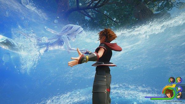 Tags: Anime, SQUARE ENIX, Kingdom Hearts III, Ariel, Sora (Kingdom Hearts), Covered Face, 3D, Screenshot