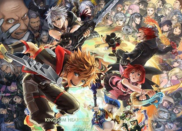 Tags: Anime, Pixiv Id 686231, Kingdom Hearts χ, Kingdom Hearts III, Kingdom Hearts 358/2 Days, Kingdom Hearts II, Kingdom Hearts, Kingdom Hearts: Birth by Sleep, Demyx, Vanitas, Kairi (Kingdom Hearts), Invi, Marluxia
