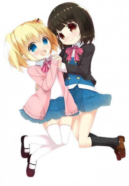 Tags: Anime, Pixiv Id 10445534, Kiniro Mosaic, Alice Cartelet, Oomiya Shinobu, Yellow Mosaic