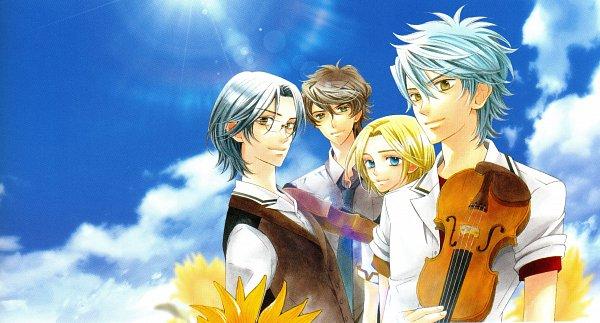 Tags: Anime, Kure Yuki, Koei, Kiniro no Corda 3, Daichi Sakaki, Mizushima Haruto, Kisaragi Kyoya, Kisaragi Ritsu, Official Art, Self Scanned, Scan