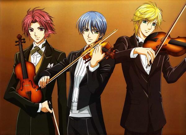 Tags: Anime, Kiniro no Corda, Kaji Aoi, Etou Kiriya, Tsukimori Len, Playing Violin, Viola (Musical Instrument), La Corda D'oro