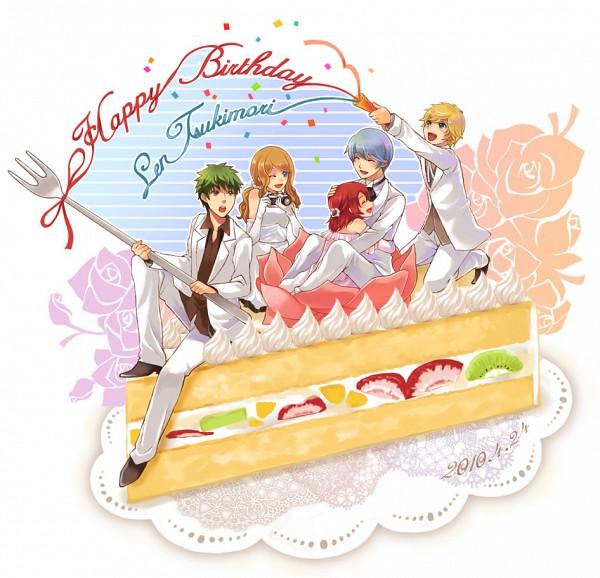 Tags: Anime, Pixiv Id 331299, Kiniro no Corda, Hino Kahoko, Amou Nami, Tsuchiura Ryotaro, Tsukimori Len, Kaji Aoi, Kiwi (Fruit), Cream, Pixiv, Fanart, La Corda D'oro