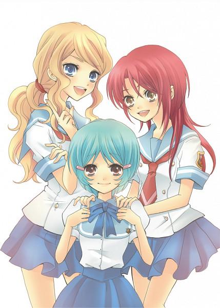Tags: Anime, Hoshino (Pixiv33586), Koei, Kiniro no Corda, Fuyuumi Shouko, Hino Kahoko, Amou Nami, Fanart, Pixiv, La Corda D'oro