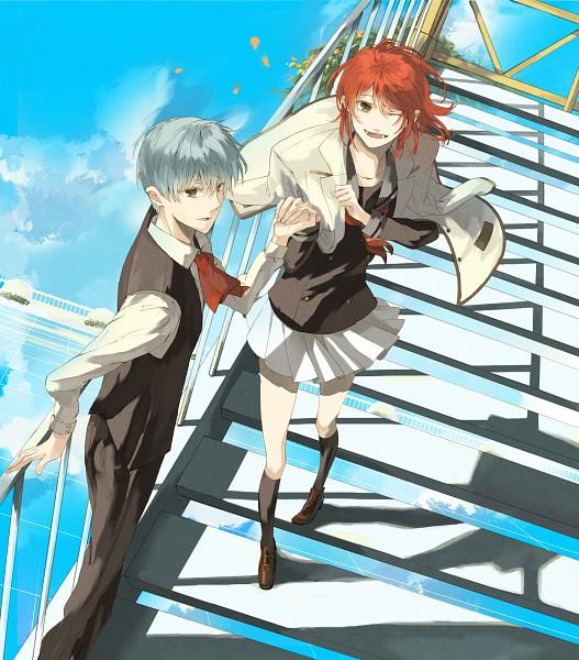 Tags: Anime, Miu (Pixiv106790), Koei, Kiniro no Corda, Tsukimori Len, Hino Kahoko, Pixiv, Fanart, La Corda D'oro