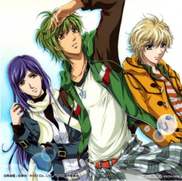 Tags: Anime, Kiniro no Corda, Yunoki Azuma, Hihara Kazuki, Shimizu Keiichi, Official Art, La Corda D'oro