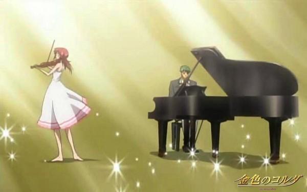 Tags: Anime, Kiniro no Corda, Hino Kahoko, Tsuchiura Ryotaro, Screenshot, La Corda D'oro