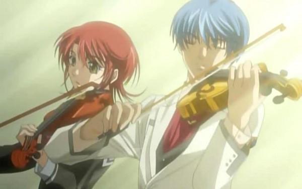 Tags: Anime, Kiniro no Corda, Tsukimori Len, Hino Kahoko, Screenshot, La Corda D'oro