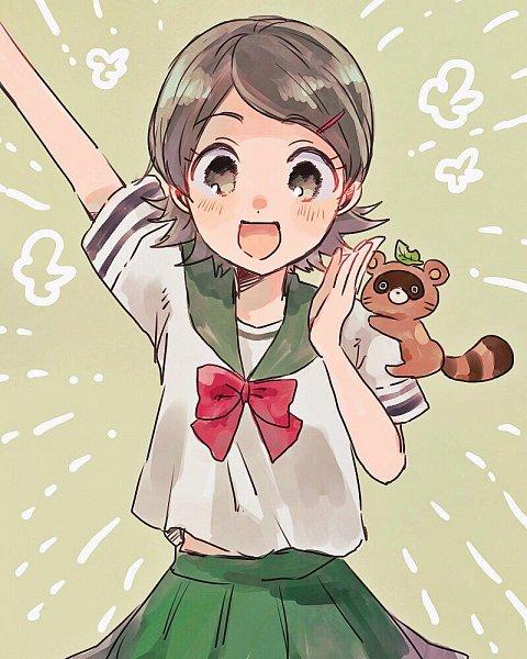 Tags: Anime, Pixiv Id 3909742, Inazuma Eleven: Ares no Tenbin, Inazuma Eleven, Kino Aki, Tanukigahara Ponko, Raccoon, Pixiv, Fanart From Pixiv, Fanart