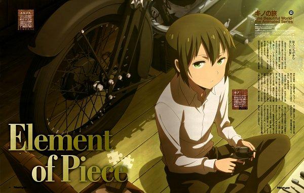 Tags: Anime, Lerche, Kino no Tabi: The Beautiful World - The Animated Series, Kino no Tabi, Hermes (Kino no Tabi), Kino (Kino no Tabi), Magazine (Source), Newtype Magazine (Source), Official Art, Scan