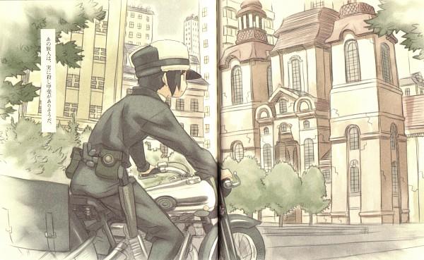 Tags: Anime, Kuroboshi Kouhaku, Kino no Tabi, Hermes (Kino no Tabi), Kino (Kino no Tabi), Wallpaper, Kino's Journey