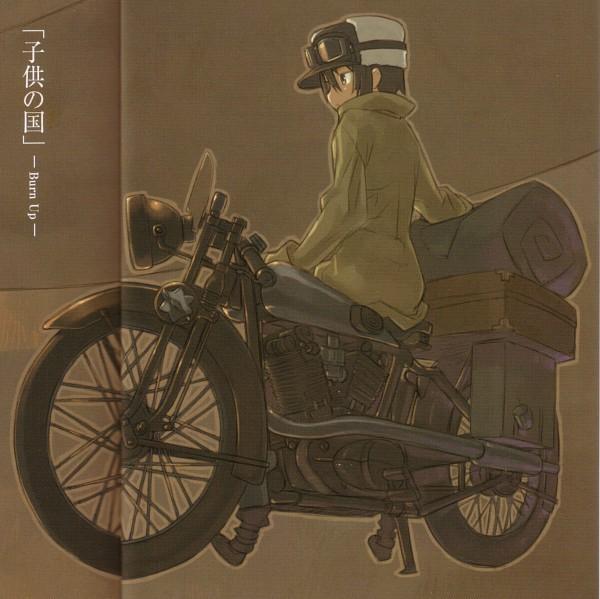 Tags: Anime, Kuroboshi Kouhaku, Kino no Tabi, Kino (Kino no Tabi), Hermes (Kino no Tabi), Official Art, Kino's Journey