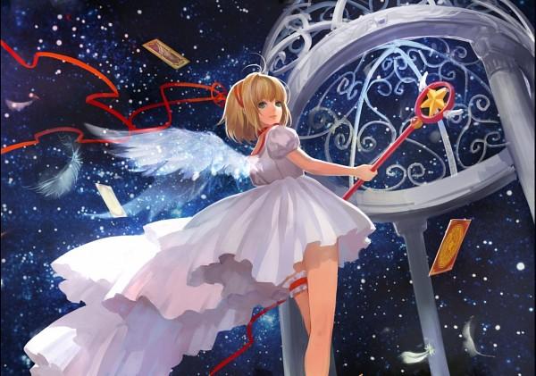Tags: Anime, Asukaziye, Cardcaptor Sakura, Kinomoto Sakura, Sealing Wand (Star Form), Pixiv