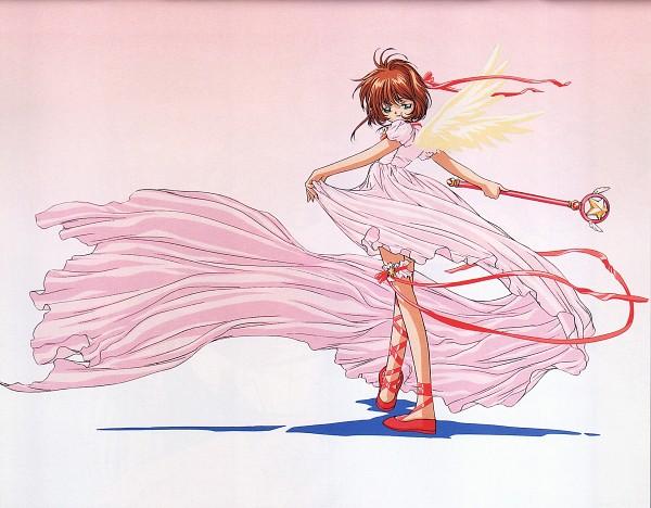 Tags: Anime, MADHOUSE, Cardcaptor Sakura, Cardcaptor Sakura Movie 2: Fuuin Sareta Card, Cheerio! 3, Kinomoto Sakura, Official Art, Scan