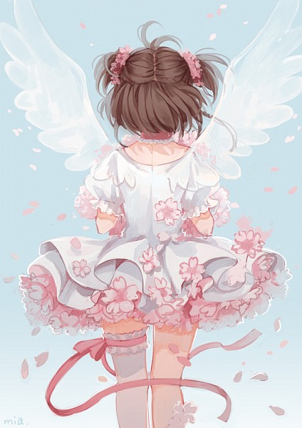 Tags: Anime, Mia0309, Cardcaptor Sakura, Kinomoto Sakura, Transparent Wings, Fanart From Pixiv, Pixiv, Mobile Wallpaper, Fanart