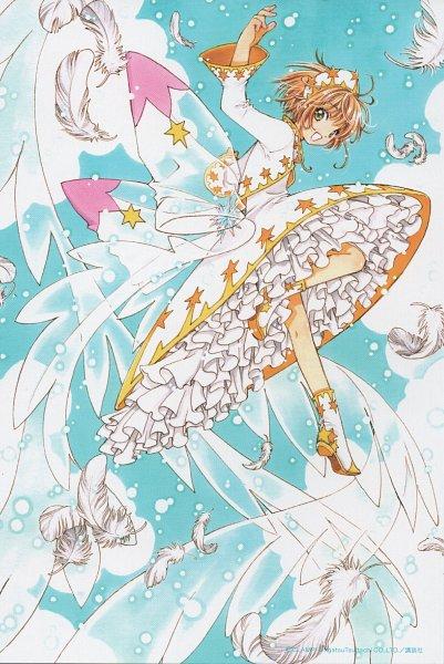Tags: Anime, CLAMP, Cardcaptor Sakura: Clear Card-hen, Cardcaptor Sakura, Kinomoto Sakura, Faux Wings, Mobile Wallpaper, Official Art, Scan