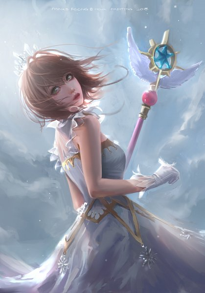 Tags: Anime, Mars Foong, Cardcaptor Sakura, Cardcaptor Sakura: Clear Card-hen, Kinomoto Sakura, Sealing Wand (Guardian Form), ArtStation