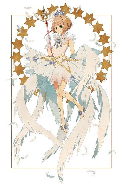 Tags: Anime, Pixiv Id 6434336, Cardcaptor Sakura, Cardcaptor Sakura: Clear Card-hen, Kinomoto Sakura, Sealing Wand (Guardian Form), Fanart, Fanart From Pixiv, Pixiv