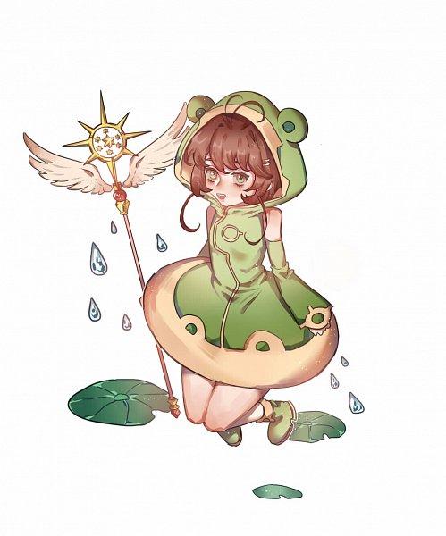 Tags: Anime, Pixiv Id 10463051, Cardcaptor Sakura, Kinomoto Sakura, Rain Coat, Sealing Wand (Guardian Form), Mobile Wallpaper, Fanart, Fanart From Pixiv, Pixiv