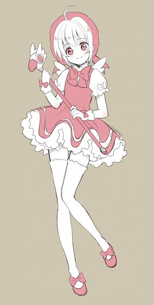 Tags: Anime, Tanu (Amatsubu Mustard), Cardcaptor Sakura, Kinomoto Sakura, Sealing Wand (Dormant Form), Fanart From Pixiv, Pixiv, Fanart