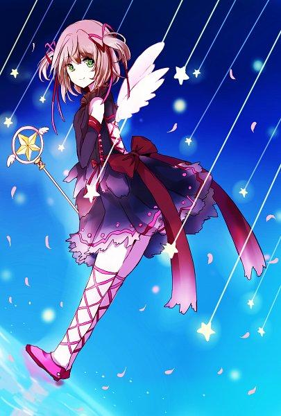 Tags: Anime, Pixiv Id 5343027, Cardcaptor Sakura, Kinomoto Sakura, Sealing Wand (Star Form), Star Wand, Fanart, Fanart From Pixiv, Mobile Wallpaper, Pixiv