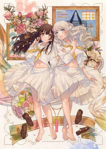 Tags: Anime, Kippu, Eshi 100-nin Ten 06, Footwear Off, Original, Mobile Wallpaper, Scan